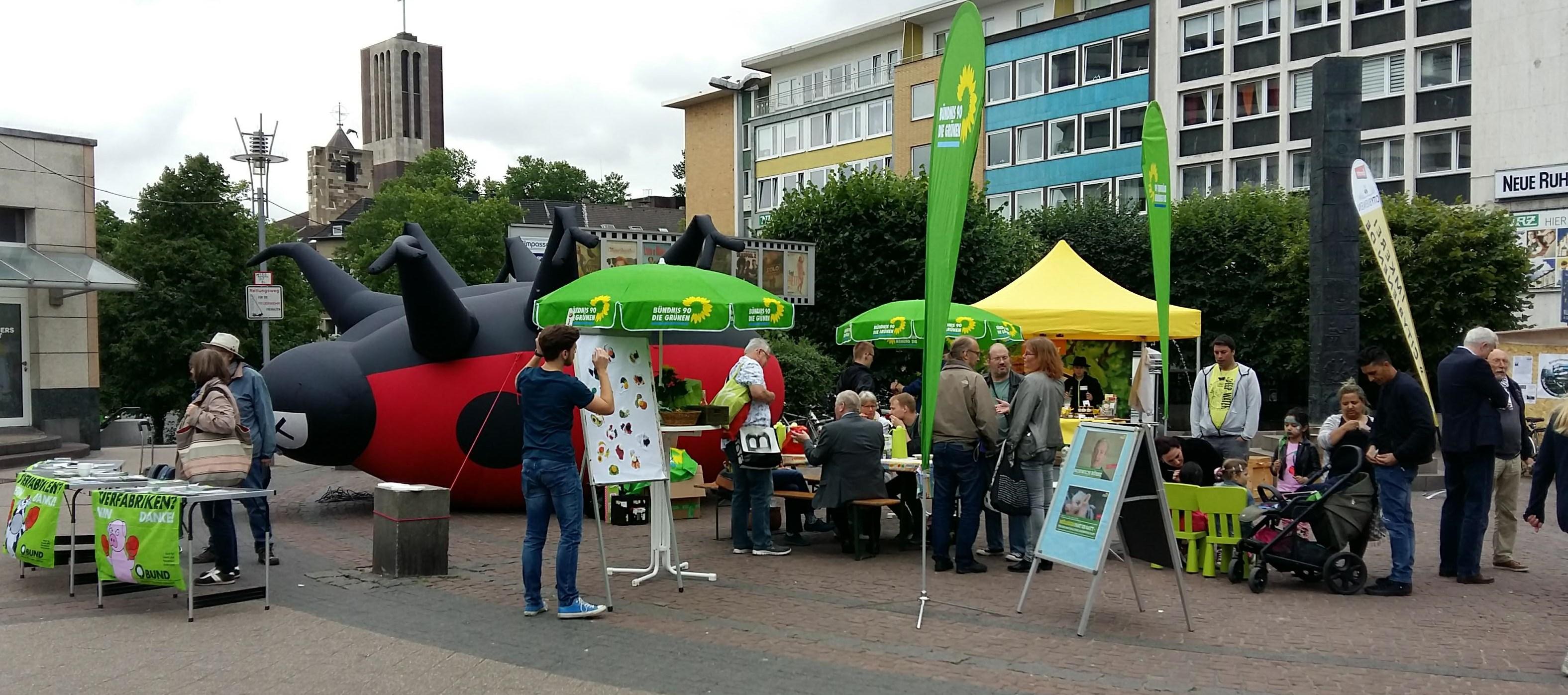 Aktionstag für eine nachhaltige Landwirtschaft in der Mülheimer Innenstadt